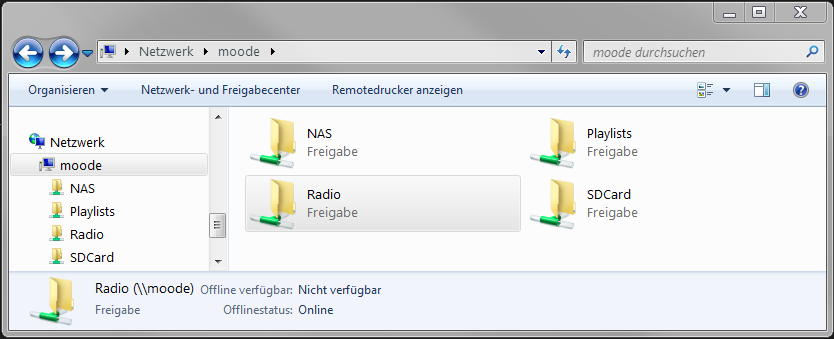 windows explorer moode adresse